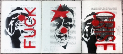 3 works by Mimi the Clown (in my private collection)